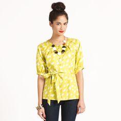 Kate Spade yellow blouse