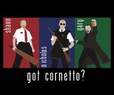 Cornetto Trilogy T-Shirt – Shaun of the Dead, Hot Fuzz, World's End