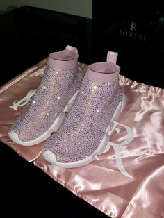 Crystal sneakers for Sale in FL, US - OfferUp Sneakers Fashion, Fashion Shoes, Shoes Sneakers, Cute Shoes, Me Too Shoes, Fresh Shoes, Sneaker Heels, Sneakers For Sale, Luxury Shoes