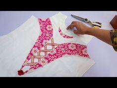 Latest Neck Design // Designer Neck Design For Kurti – dressideas Salwar Neck Patterns, Salwar Neck Designs, Kurta Neck Design, Kurta Designs, Churidhar Neck Designs, Neck Designs For Suits, Blouse Neck Designs, Simple Kurti Designs, Stitching Dresses