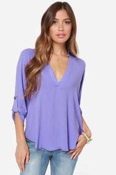 V-sionary Lavender Top