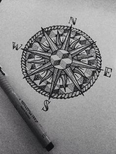 #compass #dotwork #tattoo