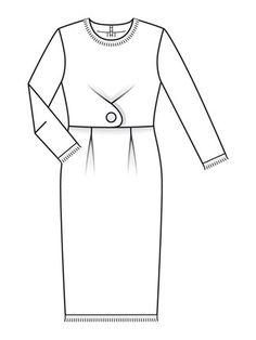 Schnittmuster: Bouclé-Kleid - Retro - burda style 12/2012 - burda style Heft - Heft & Katalog - burda style