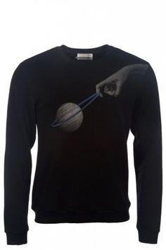 Drink Beer Save Water Floating In Space Sweatshirt Black
