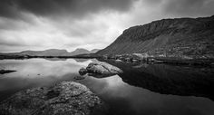 Views of Scafell Pike, from Three Tarns, Bowfell, Lake District