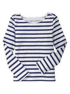 Polka dot stripe long-sleeved T | Gap