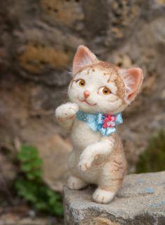 Needle felted ladycat Stella by mishmashim (Julia Gurin)  on Etsy, $160.00