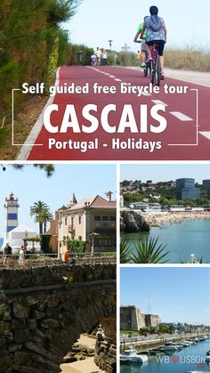 If you're around Lisbon and feel like cycling, follow our day trip guide to Cascais and enjoy a free bike ride along an Atlantic cycle lane. Visit Portugal, Spain And Portugal, Lisbon Portugal, Portugal Vacation, Portugal Travel Guide, Portugal Holidays, Europe Photos, Vacation Trips, Vacations