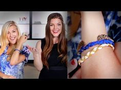 DIY Ribbon Chain Bracelets | Video | POPSUGAR Fashion