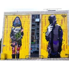 Mural of ERT3, Thessaloniki, GREECE. Artists: Apset & Same84 (urbanact team) - in the framework of the UrbanArtVentures (an initiative of the german NPΟ Jugend-& Kulturprojekt e.V.)