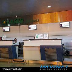 Las aerolíneas utilizan la Señalizacion Digital para mejorar la experiencia del viajero con información oportuna. Más información por info@imvinet.com