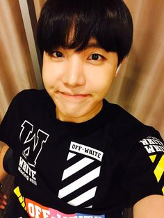 BTS Tweet - J-hope (selca) 150820 -- 아미 따랑해!!  -- tran:Love you, ARMYs!! ---   Trans cr; Mary @ bts-trans