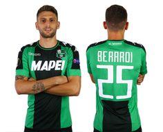 Camisa especial do Sassuolo para a Europa League 2016-2017 Kappa kit