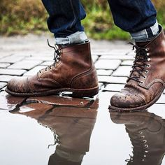 "Selvedge-socks-shoes: """" Redwings 8111 Ironrangers - Amber Harness, ive got them for over 2,5years now and still one of my best boots ever! Great picture by Marleen Geerts!  ""by @jeroenbredewold"""