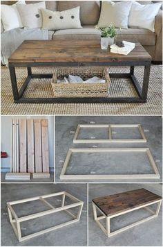 Tuto DIY fabriquer sa table basse (encore plus d'idées en cliquant sur le lien)