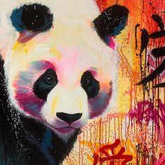 Panda painting, panda art и panda drawing. Animal Paintings, Art Paintings, Art Parisien, Panda Painting, Panda Drawing, Panda Art, Panda Panda, Art Tumblr, Bear Art