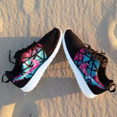Custom nike Roshe Run south beach theme size 9 Girls Nike Shoes e89d505d53fe