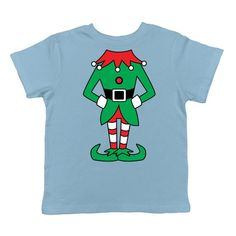 9201d5939c0 Elf Body Santa s Helper Northpole Delivery Reindeer Sled Christmas Tree  Lights Presents Candycanes Gingerbread Men Infant T-Shirt