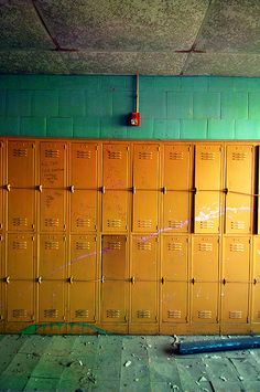 """Abandoned school - NEW ORLEANS……..REMEMBER WHEN MY GIRLS STARTED HIGH SCHOOL - THEY COULDN'T GET A """"LOCKER"""" FOR LOVE NOR MONEY………..ccp"""