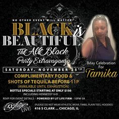 Tamika BIRTHDAY Celebration THIS SATURDAY NOVEMBER 25th at @refugechicago!! #seekRefugeSATURDAYS #litLifeFirm #goodVIBES.... . . Complimentary Food and TEQUILA SHOTS b4 11pm! (Available until Exhaustion) ... . . #yourSaturdayNightEscape #chicago #music #fashion #hair #style #pioneer #nightlife #lounge #scorpio #sagittarius #birthday #bday #november #food #chicken #alcohol #tequila #cognac #whiskey #vodka #dancing #fun