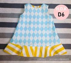 Dress with circle hem /kids sewing pattern pdf/ / by hellodearkids