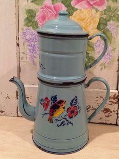 Lovely french enamel coffee pot