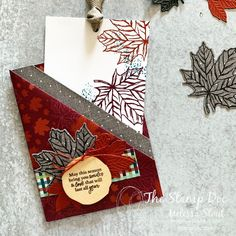 Holiday Sneak Peek & Fun Fold Gather Together Stamp Set and Gathered Leaves Dies Homemade Christmas Cards, Handmade Christmas, Homemade Cards, Christmas Card Designs, Christmas Ideas, Christmas Tag, Fall Cards, Xmas Cards, Holiday Cards