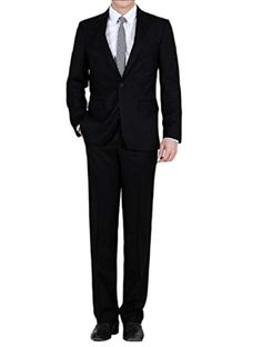 Mens Classic 2 Piece Set Formal Business Slim Fitted Dress Suit *** Want to know more, click on the image. (This is an affiliate link) #slimfitpants Dress Suits, Dresses, Slim Fit Pants, Suit Jacket, Formal, Business, Link, Classic, Fitness