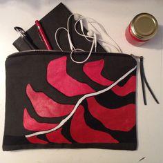 Custodia per iPad-Pochette da donna-Regalo per Lei -Portadocumenti- Clutch- Borsello in Canvas -Borsello in Canvas Unisex-Pochette di ZenZerodesignes su Etsy