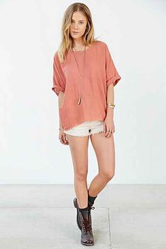 COPE Gauzy Oversized Tee - Urban Outfitters