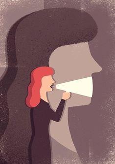 Liberdade de expressão Freedom of expression (Davide Bonazzi) Editorial Illustration, Illustration Inspiration, Watercolor Illustration, Freedom Art, Freedom Drawing, Satirical Illustrations, Visual Metaphor, Political Art, Feminist Art