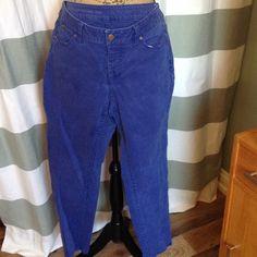 Talbots Petite Bright Blue Jeans Heritage Fit, slim ankle.  Women's Petite Bright Blue Jeans.  These are not denim. Talbots Pants