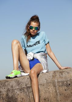 Sporty Blue – blue t shirt, oyster mag