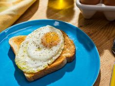 """Perfect Sunny-Side-Up Eggs (Bottomless Breakfast) - Jeff Mauro, """"The Kitchen"""" on the Food Network."""