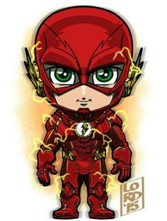 Chibi The Flash (Arkham Knight style) by Lord Mesa Marvel Dc, Chibi Marvel, Chibi Characters, Marvel Characters, Comic Books Art, Comic Art, Chibi Superhero, Lord Mesa Art, The Flash Grant Gustin