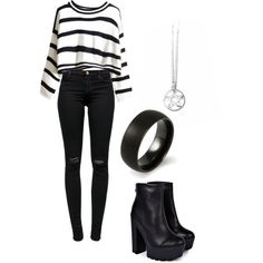 ck&th by whovianesra on Polyvore featuring polyvore, fashion, style, J Brand and Boohoo