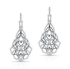 Diamond Deco Drop Earrings - Levinson Collection - Featured Designers - Fine Jewelry - $6,000