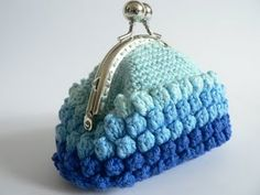 blue coin purse.. reminds me of the ocean