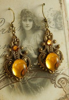 Topaz Gypsy earrings by Ophelia's Adornments
