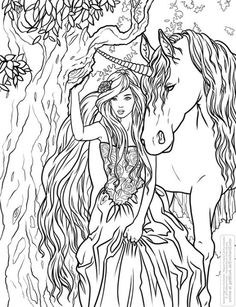 I wanted to share with you all a FREE coloring page from my new coloring book, Enchanted- Magical Forests Coloring Collection. Selina Fenech