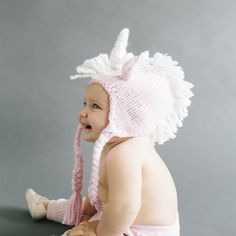 Unicorn Knit Hat for