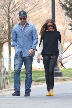 THE OLIVIA PALERMO LOOKBOOK: Olivia Palermo and Johannes Huebl take Mr. Butler on a walk in New York City.