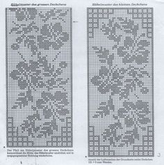 Filet Crochet Charts, Tunisian Crochet, Chrochet, Irish Crochet, Crochet Stitches, Crochet Curtains, Tapestry Crochet, Crochet Doilies, Crochet Lace