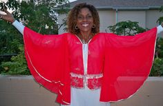Praise Dance Angelic Sleeved Panel Top (short) - Click Image to Close