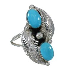 Sterling Silver Turquoise Ring Size 6-3/4 www.turquoisejewelry.com