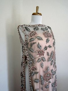 1960s VICTORIA ROYAL Heavily Beaded Full Length