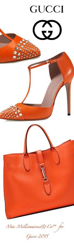 GUCCI - 'Jackie' Soft Leather Top Handle Bag and Studded Leather T-Strap Pumps