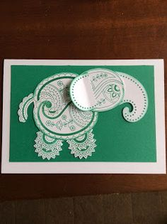 AmethyStar Crafting : Stampin Up Paisleys and Posies Elephant and Owl Art