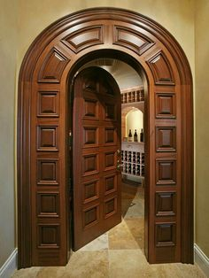 Are you looking for the best wooden doors for your home that suits perfectly? Then come and see our new content Wooden Main Door Design Ideas. Wooden Front Door Design, Double Door Design, Door Gate Design, Wood Front Doors, Door Design Interior, Wooden Doors, Interior Doors, Oak Doors, Entry Doors