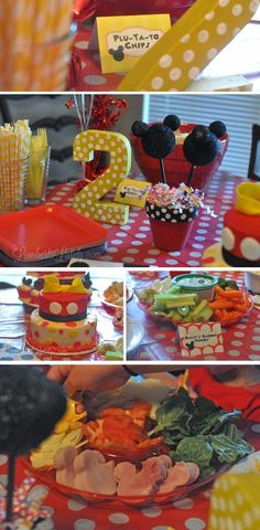 Mickey Mouse Clubhouse Birthday Party Food Table (Menu Included)